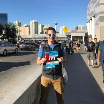 Dustin with race bib Las Vegas